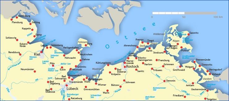 Karte Norddeutschland Ostseekuste.Karte Der Ostsee Hanzeontwerpfabriek